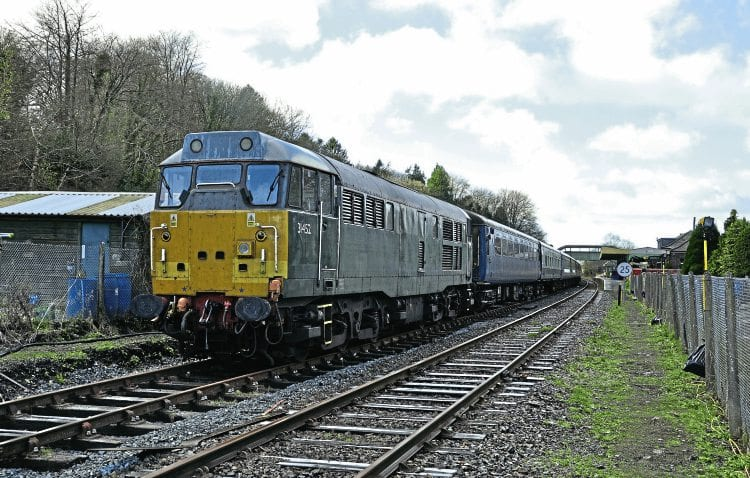 former barsdevon cornwall railways main line class 31 no 31452 arrived at okehampton on november 27 to work the dartmoor railways christmas trains - Train To Christmas Town