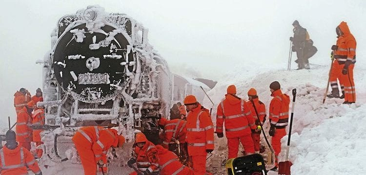 Harz steam loco gets stuck in snow! – The Railway Magazine