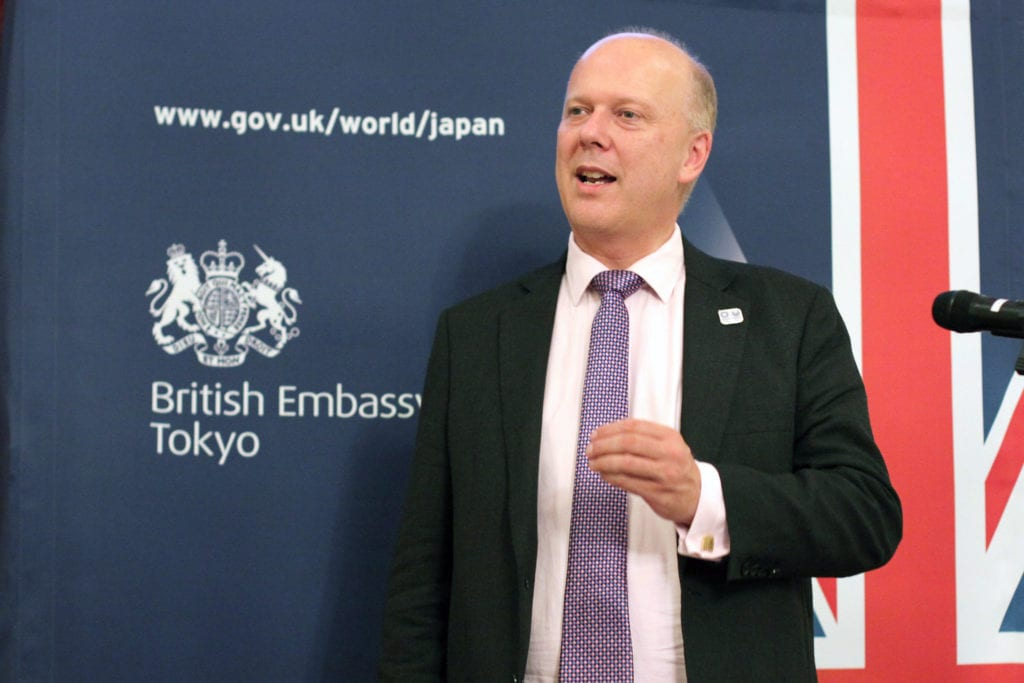 Secretary of State for Transport Chris Grayling meeting with Japanese investors in Tokyo.