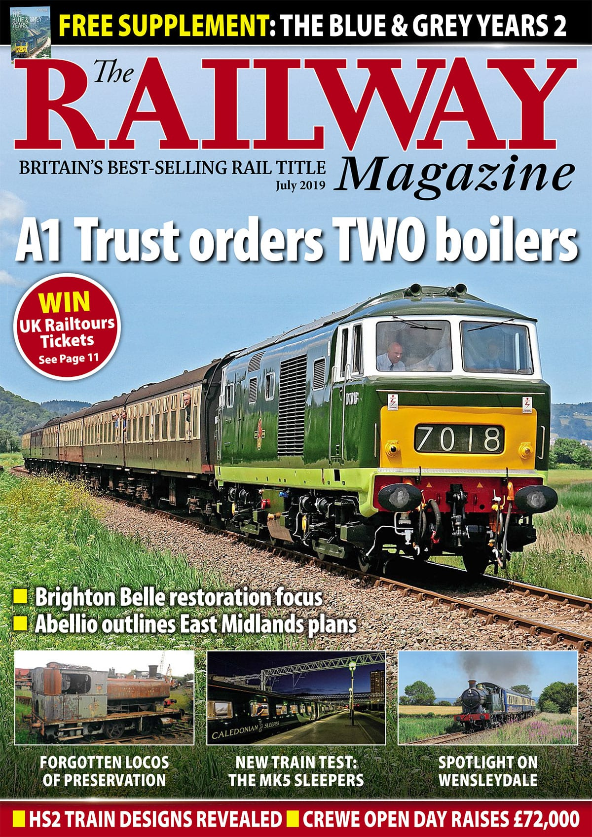 July edition of The Railway Magazine cover