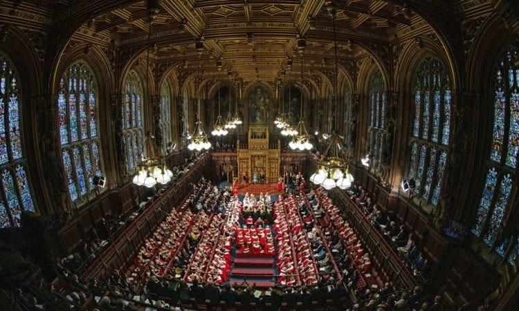 Scene at the Queen's Speech