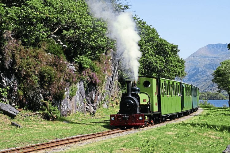 Hunslet 0-4-0ST Dolbadarn whistles up as it heads towards Cei Llydan and Penllyn on July 6, 2013. Photography: Cliff Thomas (unless stated)