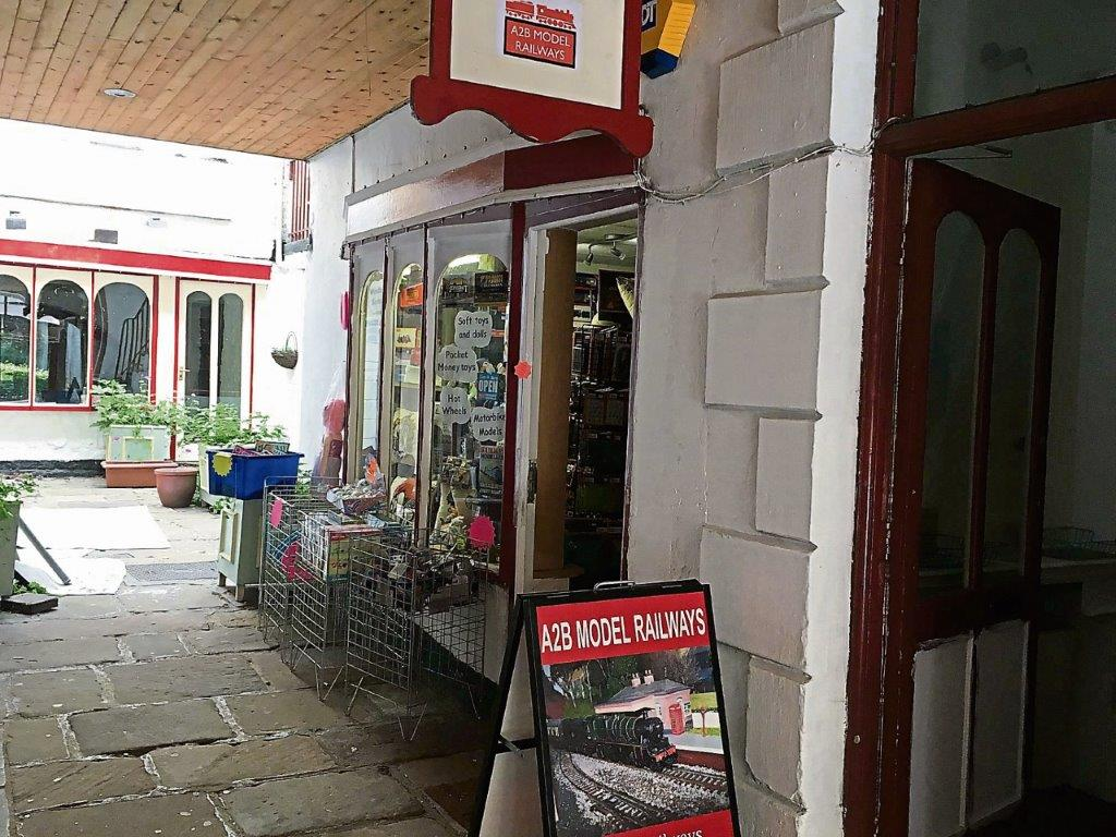 A2B Model Railways' shop is located in Matlock Bath, Derbyshire. A2BMR