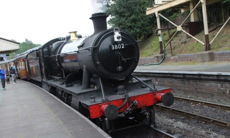 Llangollen Railway - GWR 2-8-0 No. 3802 is seen at Llangollen station. GARETH EVANS