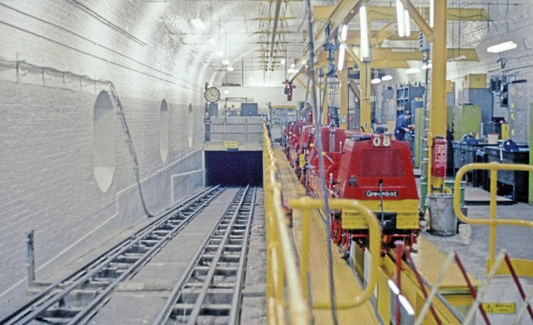 THEN: How the same area looked on January 16, 1985, when the railway was still functioning and carrying mail.