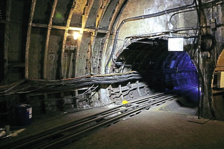A view in the tunnel during the visitor ride.