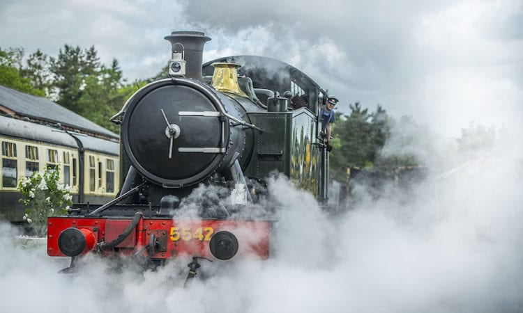 South Devon Railway GWR 2-6-2T No. 5542.