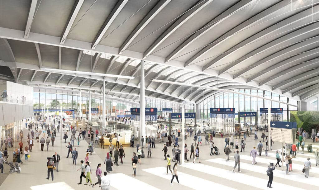 Barriers at HS2 west-London super hub, Old Oak Common