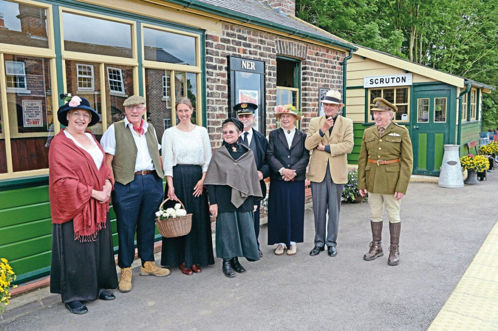 Scruton station was restored from a derelict state in 2014. Photo: Virginia Arrowsmith
