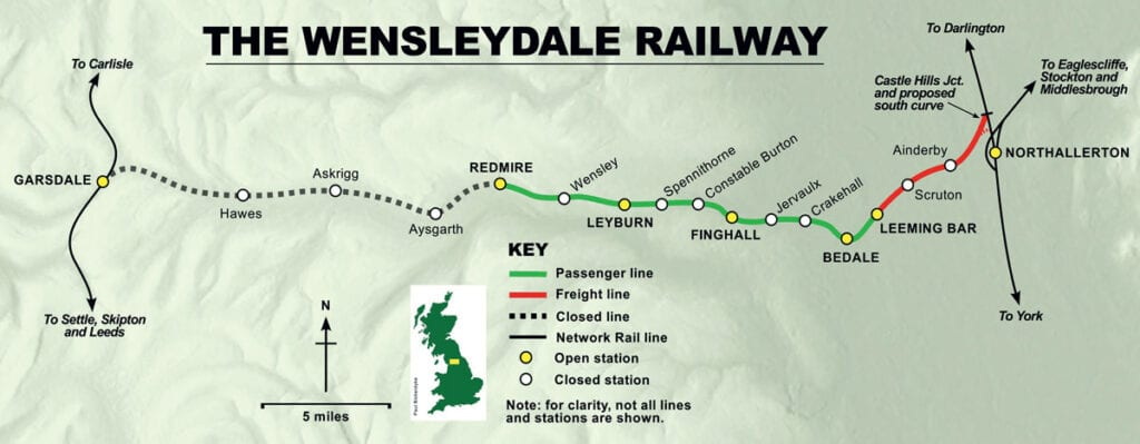 Route of the Wensleydale Railway