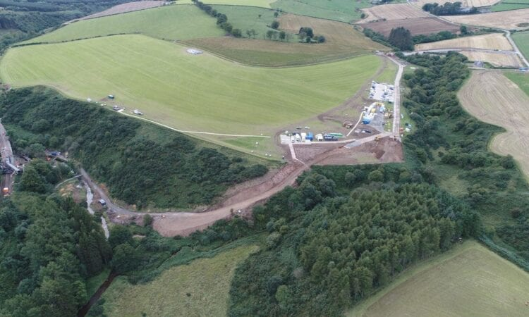 Stonehaven derailment scene. Photo: Network Rail