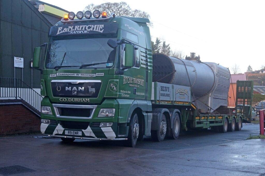 4930 Hagley Hall boiler delivered to SVR