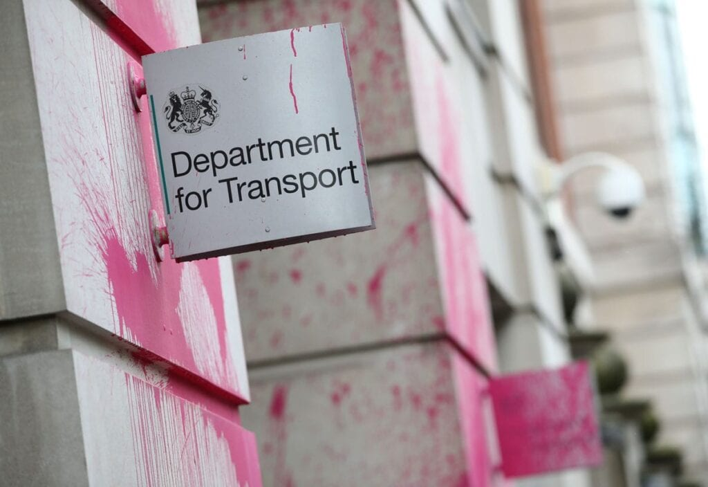 Anti-HS2 protesters vandalise Department for Transport offices